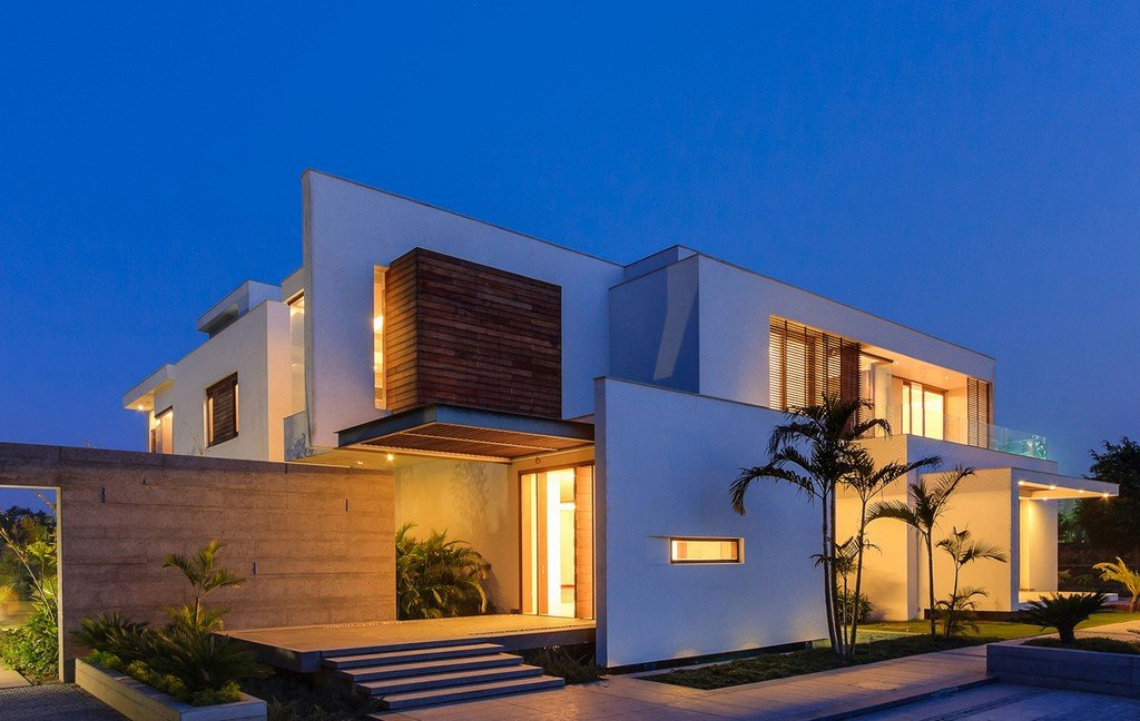 Modern farmhouse by dada partners in new delhi india for Contemporary architecture
