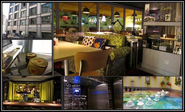 Mama Shelter Marseille, bassin échiquier terrasse, lobby ordinateurs Mac, salon déo vintage, set dj bar nuit
