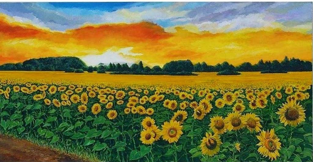 Cuadros modernos pinturas y dibujos im genes de flores - Cuadros para pintar en casa ...