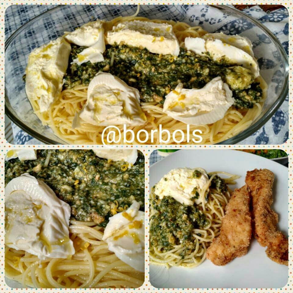 Espaguete ao Molho Pesto com Burrata SEM glúten