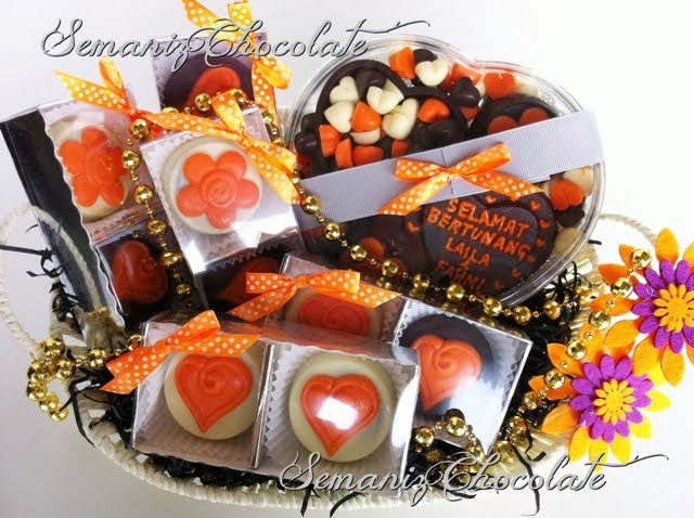 Chocolate in Basket Set