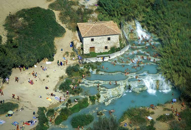 Surprising places tuscany italy europe terme di saturnia - Bagni di saturnia ...