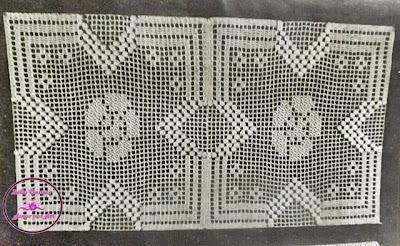 Gráfico de Crochê para toalhinhas ou guardanapos, centros de mesa e motivos de crochê