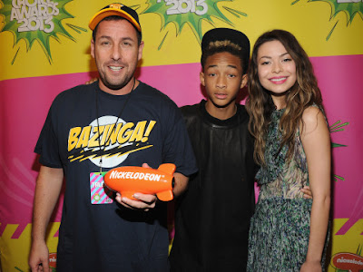 MirandaCosgrove-JadenSmith-AdamSandler-WireI iCarly Kids Choice Awards 2013 ShurKonrad