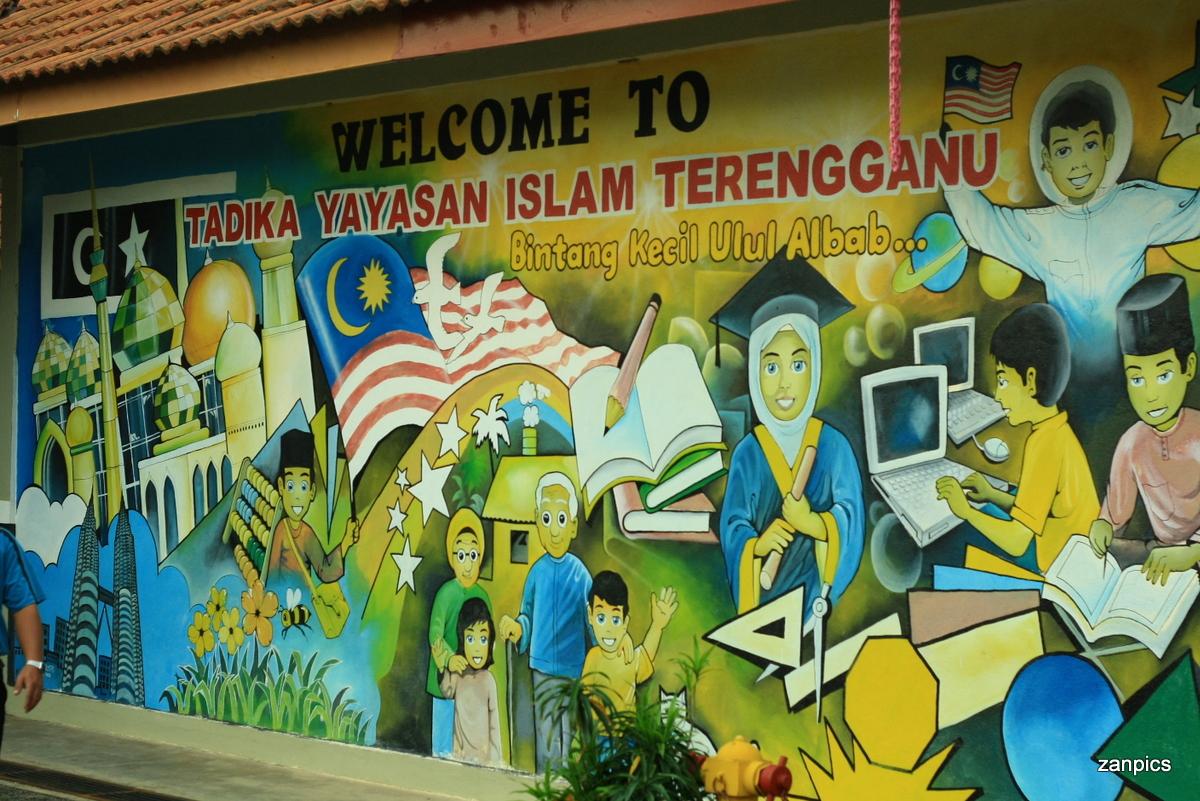 Tadika yayasan islam terengganu pelajar baru zanpics for Mural yang cantik