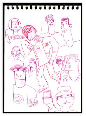 Alex Fromika esquisses carnet de croquis