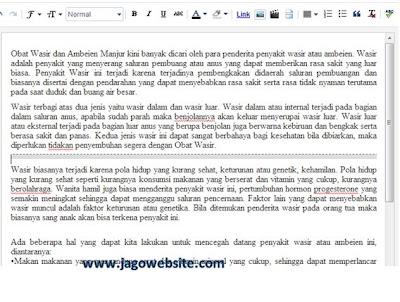 cara membuat baca selengkapnya pada blogspot