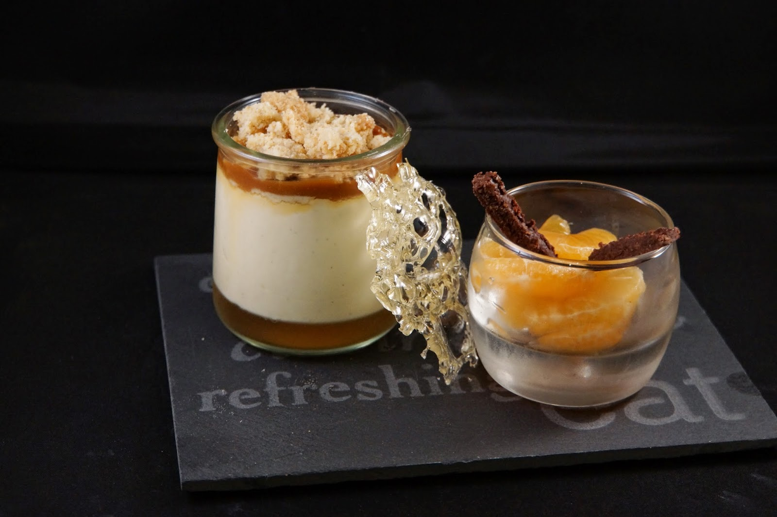 un brin de gourmandise verrine de cr me diplomate vanille pineau et caramel au beurre sal. Black Bedroom Furniture Sets. Home Design Ideas