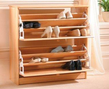 Mil ideas para la casa y el jardin septiembre 2012 for Zapateras de madera modernas