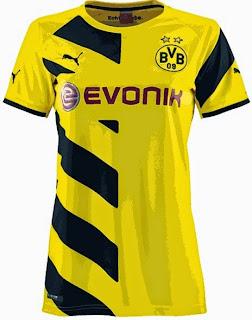 gambar baju bola ladies borrusia Dortmund
