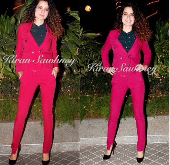 Kangana Ranaut in Gucci at Farah's 50th Birthday bash