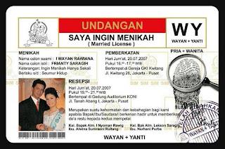 Desain Kartu Undangan Pernikahan Unik