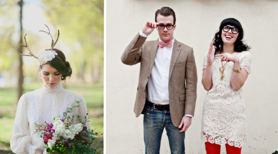 Hipster bride, hipster wedding