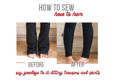 How to hem via Randomly Happy