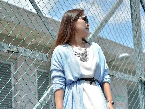 Outfit Diary : Oh! that dust blue cardigan..