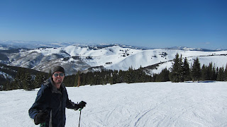 A view of the Back Bowls from the top of Grand Review on Blue Sky Basin, the highest elevation at Vail - 11,570 feet
