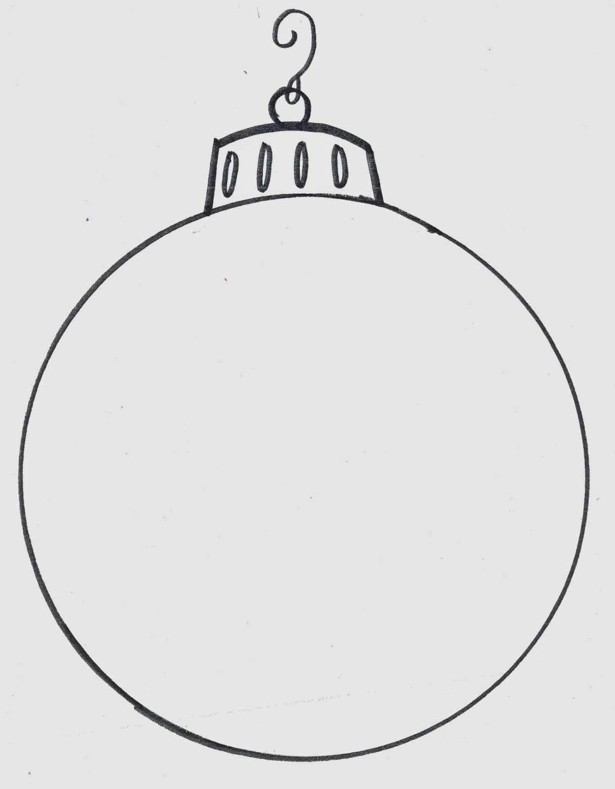 Christmas Bulb Outline This is the blank bulb the