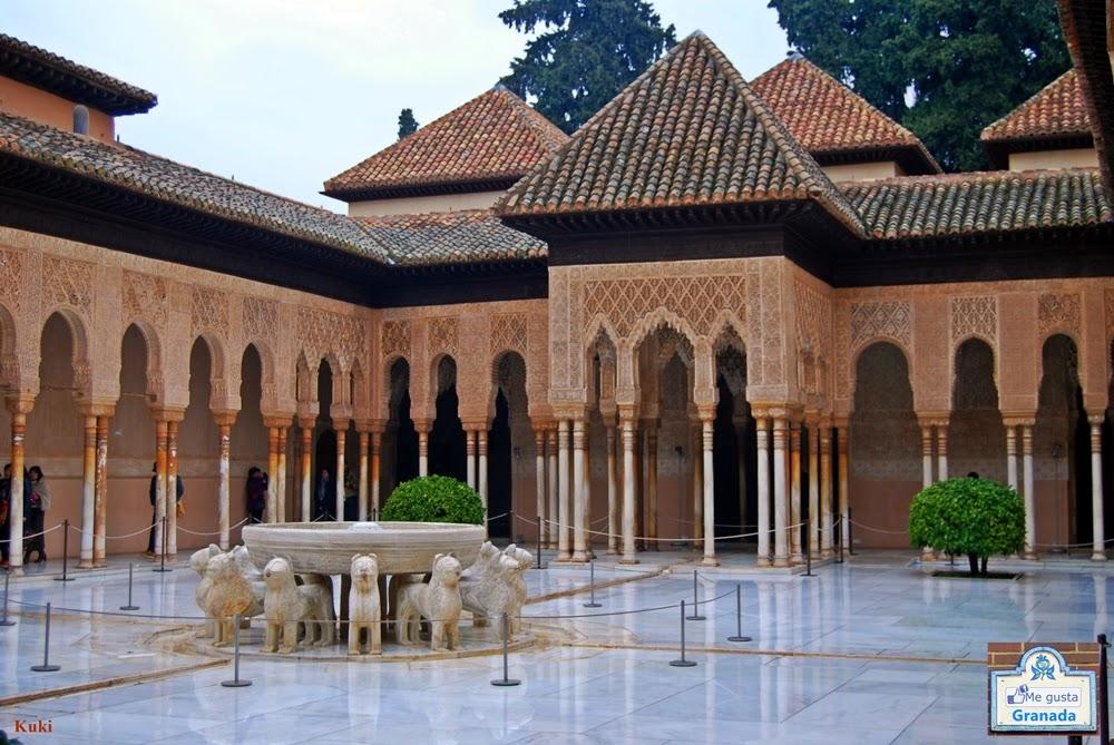 Que ver en granada patio de los leones de la alhambra - Patios de granada ...