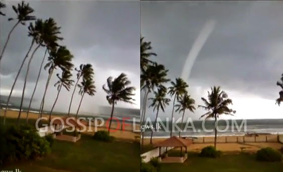 Tornado came in Kalutara - Video