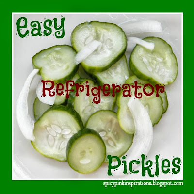 Easy Refrigerator Pickle Recipe  | www.SpicyPinkInspirations.com
