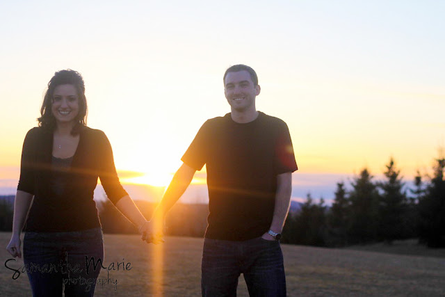 cute couple at sunset presque isle maine