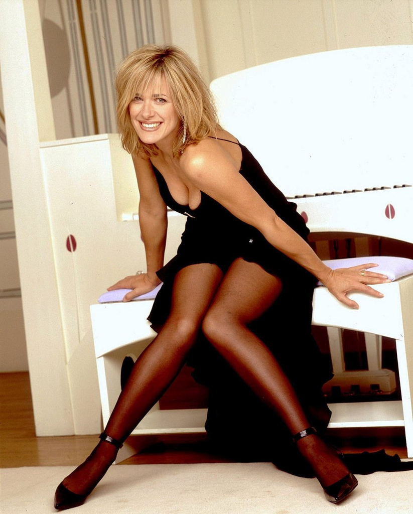 Carol Smilie In Sheer Black Pantyhose