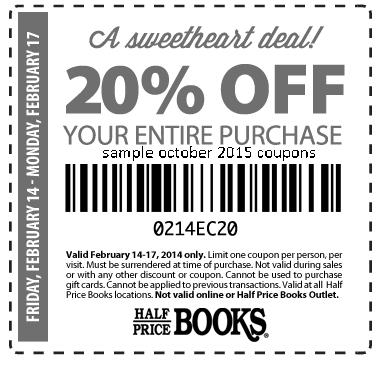 Half price books online coupon codes
