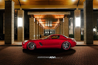 Red Mercedes Benz SLS 63 AMG HD Wallpaper