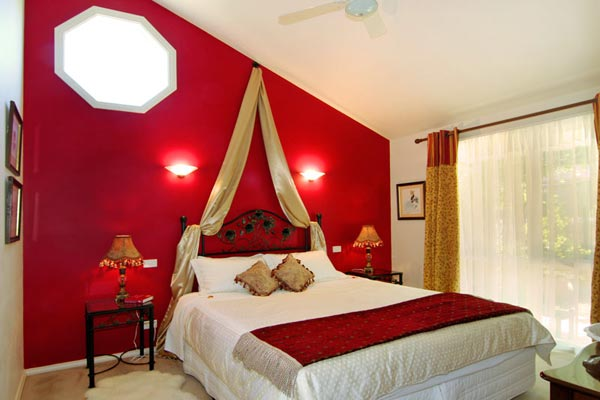 "Red Paint"" Interior Designs Bedroom"