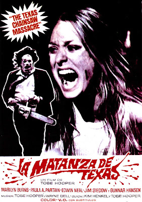 """Cartel de """"La Matanza de Texas"""" (Tobe Hooper, 1974)"""