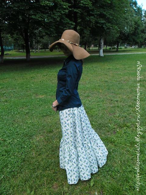 юбка в пол, длинная юбка на лето