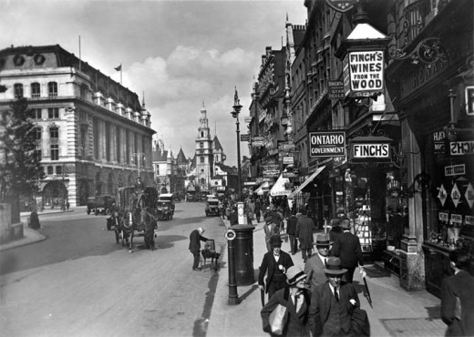 Vintage Everyday Old Photographs Of London From 1920 1933