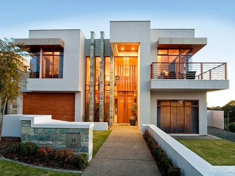 Hogares frescos fachadas de casas especial de hogares for Disenos de residencias modernas