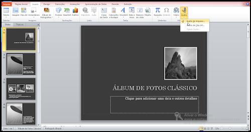 Como inserir uma música de fundo no PowerPoint