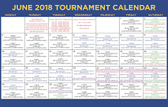 June Tournament Calendar
