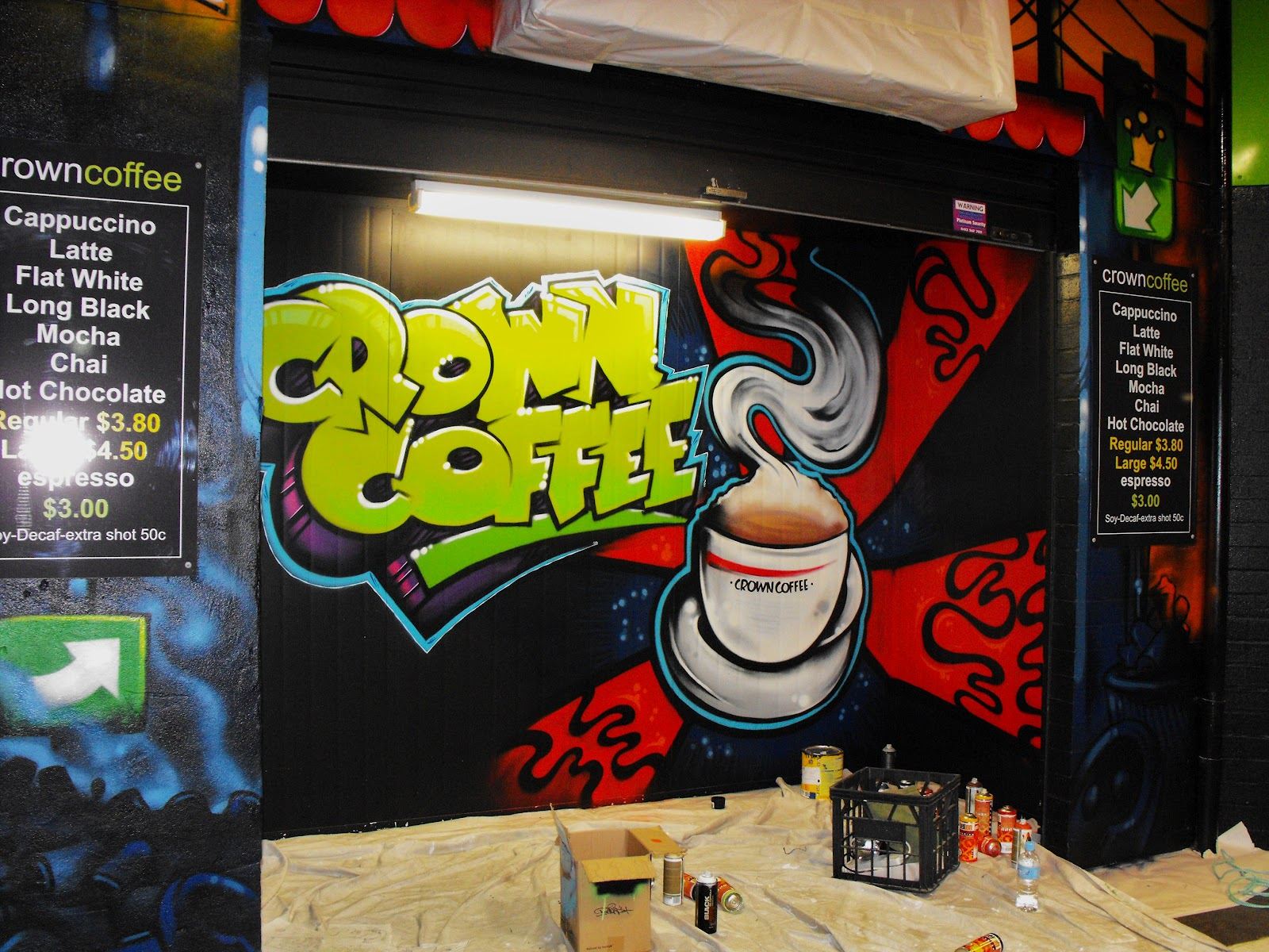 Dobell signs crown coffee for Mural coffee