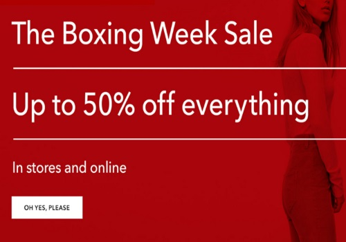Aritzia Boxing Week Sale Up To 50% Off
