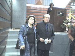 Encuentro literario, junto al Director de la Biblioteca Nacional...