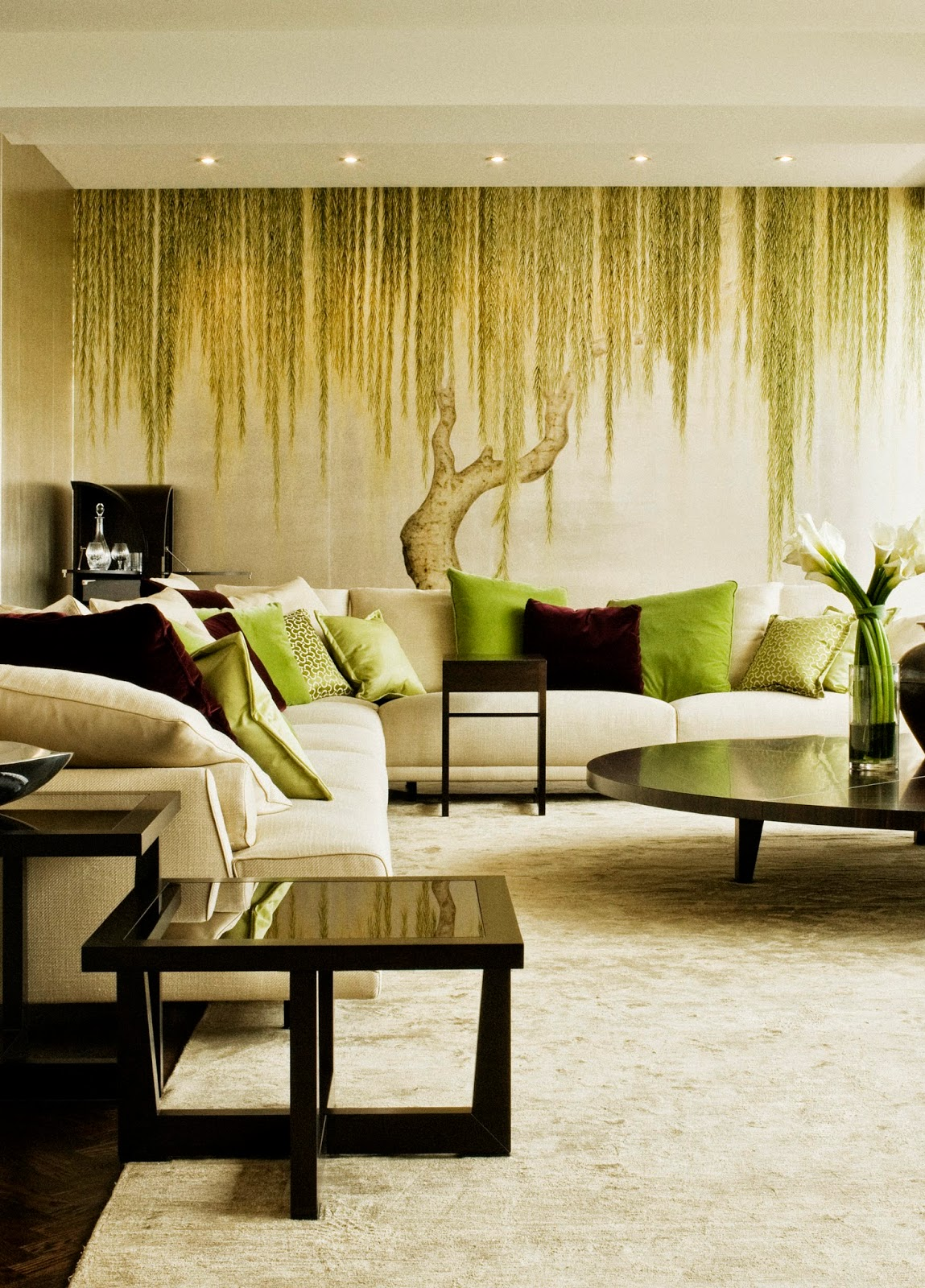 Houses Gardens People Glamorous De Gournay  # Muebles Giorgetti