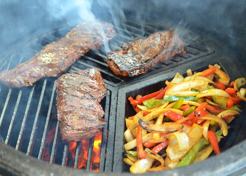 Craycort grate, grilled fajitas, Tex-Mex