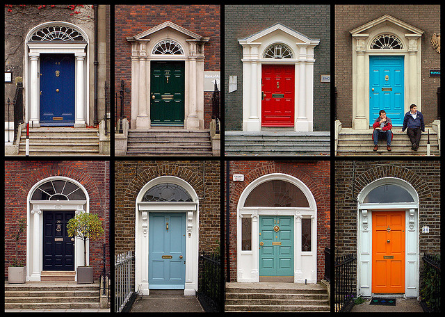 St patrick 39 s day for Different types of doors for houses