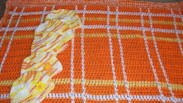 Candy Corn Plaid