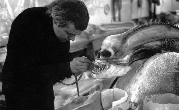 giger making alien