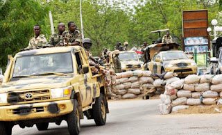 Nigerian Soldiers On Guard
