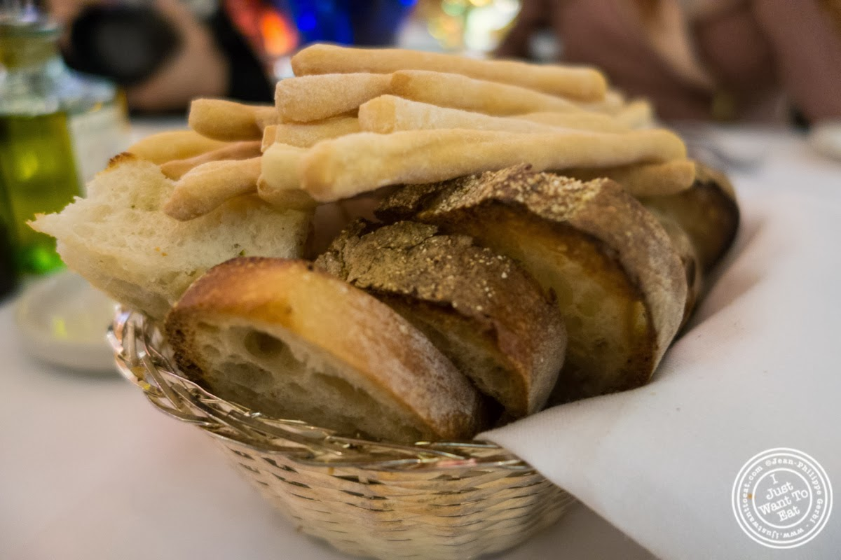 image of bread basket at Circo in NYC, New York