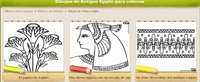 ESCOLA DE CASALONGA: DIBUJOS DEL ANTIGUO EGIPTO PARA COLOREAR