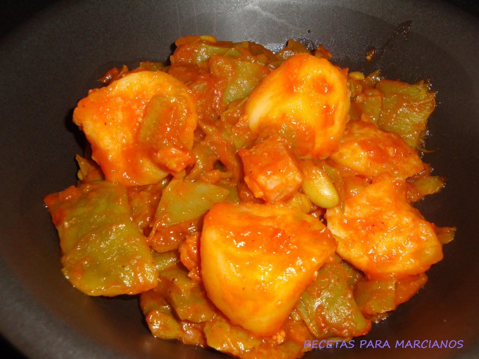 Jud as verdes con patata recetas para marcianos - Como hacer judias verdes ...