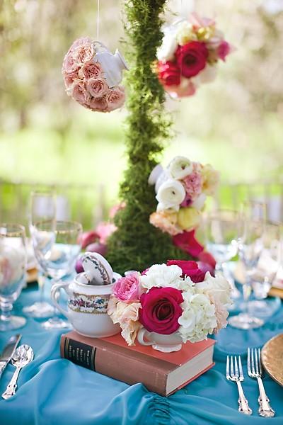 Daisy pink cupcake alice in wonderland - Deco alice au pays des merveilles ...