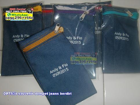 souvenir dompet jeans berdiri murah