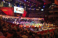the Royal Liverpool Philharmonic, conductor by Matthew Coorey, the Liverpool Philharmonic Children's Choirs, West Everton Children's Orchestra at the Proms on Sunday 1 September 2013